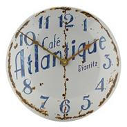 Cream 'Cafe Atlantique' wall clock