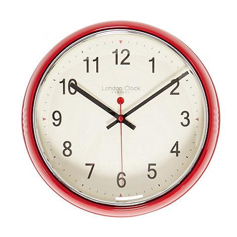 London Clock - Red retro wall clock