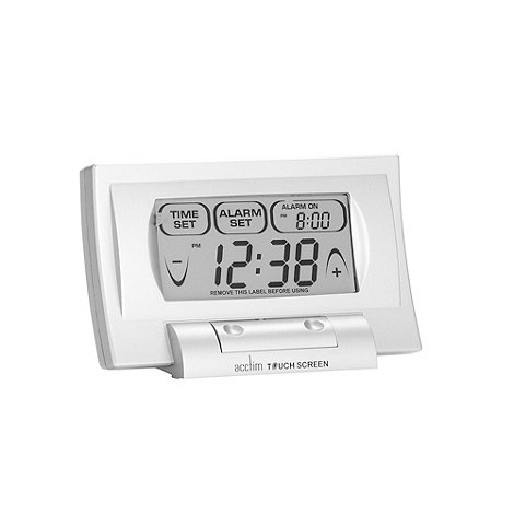 Acctim - Silver touch screen alarm clock