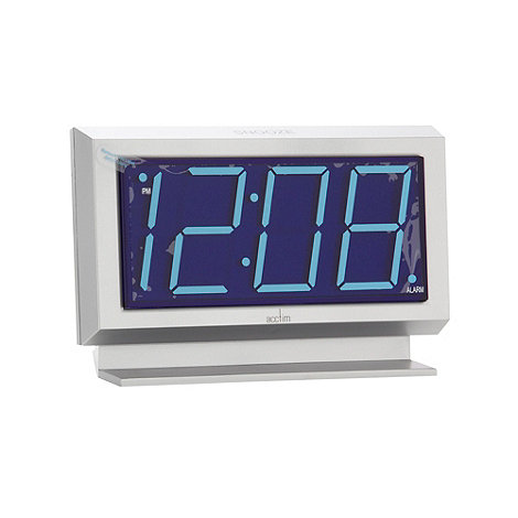 Acctim - Silver jumbo LED digital alarm clock
