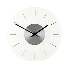 London Clock - Silver chrome cased wall clock