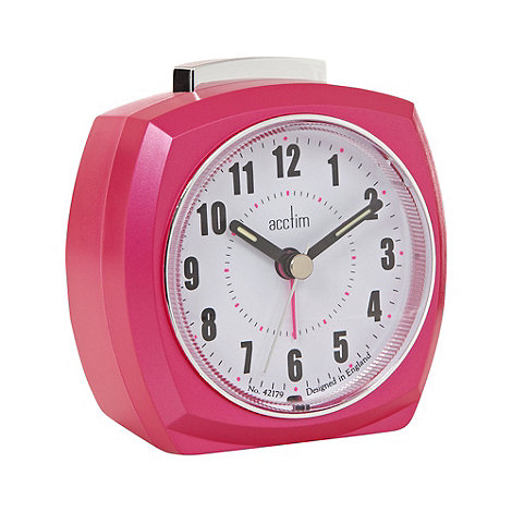Acctim - Metallic pink small alarm clock