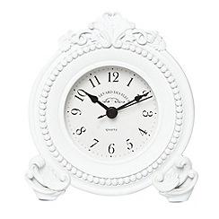 London Clock - White resin moulded mantel clock