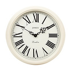 Jones - Cream traditional wall clock