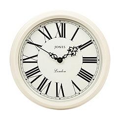 Jones - Cream traditional wall clock