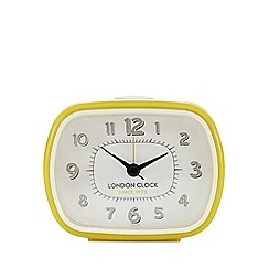 London Clock - Yellow 'Geo' alarm clock