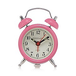 Jones - Pink bell mini alarm clock