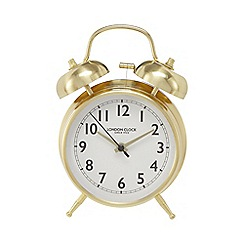 London Clock - Gold 'Blaze' alarm clock