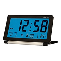 Acctim - Black 'Orlean' alarm clock