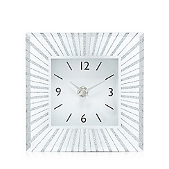 London Clock - Silver square clock