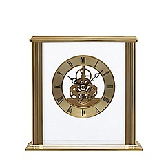 London Clock - Gold square skeleton mantel clock