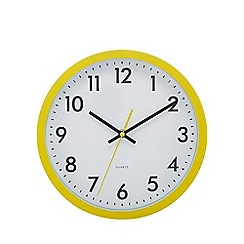 London Clock - Yellow 'Tilly' wall clock