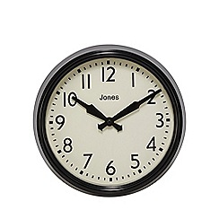 Jones - Black gloss wall clock