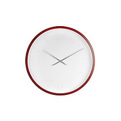 Karlsson - Mr. White numbers wooden case wall clock
