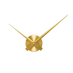Karlsson - Little big time mini gold wall clock
