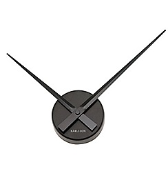 Karlsson - Little big time mini aluminium black wall clock