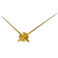 Karlsson - Little big time aluminium gold plated wall clock