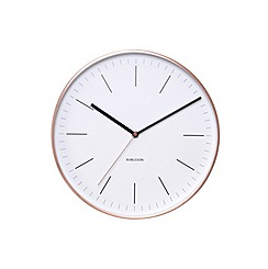Karlsson - Minimal white copper case wall clock