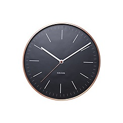 Karlsson - Minimal black copper case wall clock