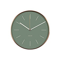 Karlsson - Minimal jungle green copper case wall clock
