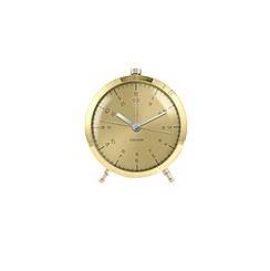 Karlsson - Button brass plated alarm clock
