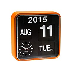 Karlsson - Mini flip orange casing black dial wall clock