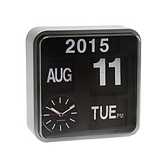Karlsson - Mini flip silver casing black dial wall clock