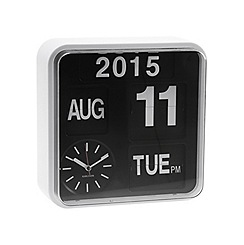 Karlsson - Mini flip white casing black dial wall clock