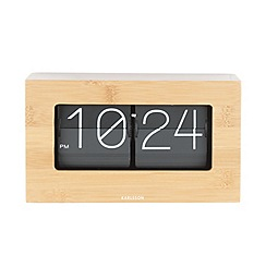 Karlsson - Boxed flip bamboo table clock