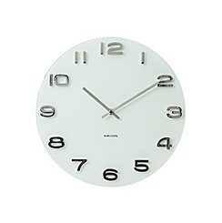 Karlsson - Vintage white round glass wall clock