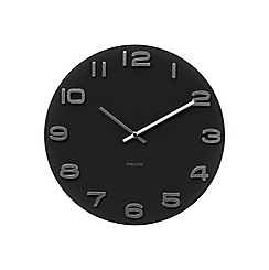 Karlsson - Vintage black round glass wall clock