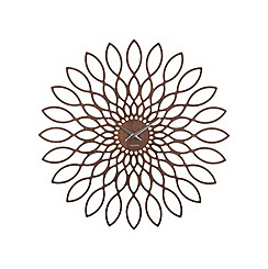 Karlsson - Sunflower MDF walnut wood veneer wall clock
