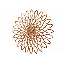 Karlsson - Sunflower MDF wood finish wall clock