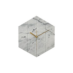 Karlsson - Marble Hexagon white BOX32 Design wall clock