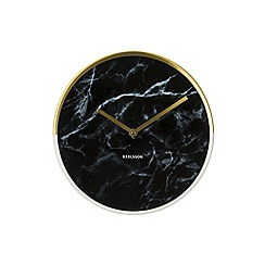 Karlsson - Marble Delight gold black wall clock