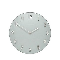 London Clock - Silver glass wall clock