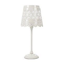 Debenhams - Metal cutout butterflies table lamp