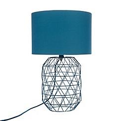 Ben de Lisi Home - Designer turquoise wire lamp