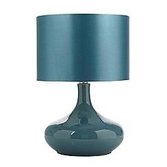 Betty Jackson.Black - Designer turquoise ceramic bottle lamp