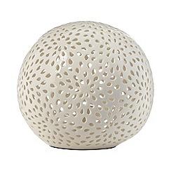 RJR.John Rocha - Designer stoneware pierced orb lamp