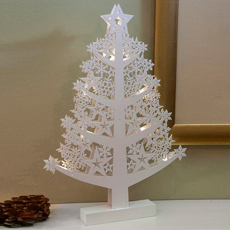 Noma - Wooden light-up Christmas tree ornament 48cm