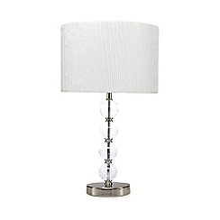 Debenhams - White chrome ball lamp