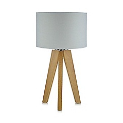 Debenhams - Wooden tripod lamp