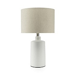 Debenhams - White ceramic table lamp