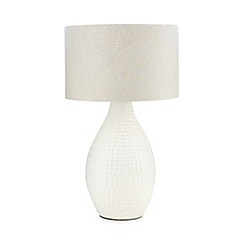 RJR.John Rocha - Ceramic cream table lamp