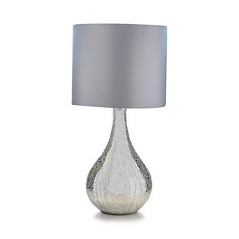 Star by Julien Macdonald Cracked mirror table lamp | Debenhams