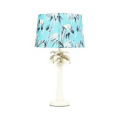 Butterfly Home by Matthew Williamson - Aqua leaf palm tree lamp