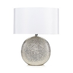 Debenhams - Silver beaten metal lamp