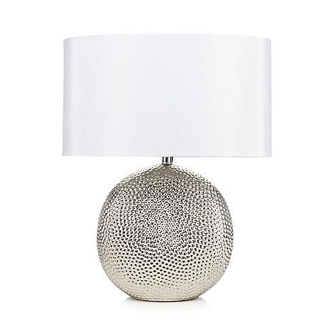 Debenhams Silver Metal Table Lamp