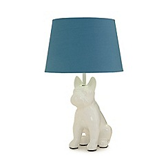 Ben de Lisi Home - Blue dog shaped table lamp